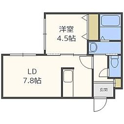 Laplace East[4階]の間取り