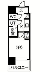 プレサンス南堀江 11階1Kの間取り