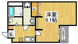 エヌエムキャラントサンク(サウス)[3階]の間取り
