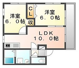 広島県福山市神辺町大字新湯野の賃貸アパートの間取り