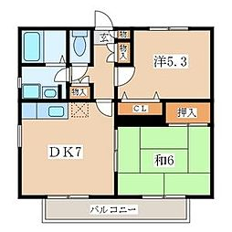 イースト逗子アパートメント[3階]の間取り