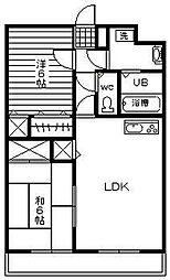 淀コーポ3[3階]の間取り