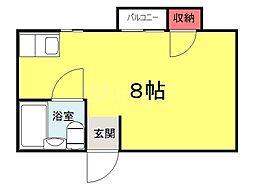 大阪府堺市堺区三宝町5丁の賃貸マンションの間取り