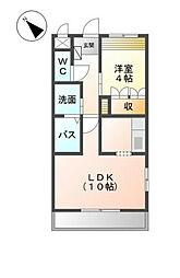 福岡県北九州市小倉南区上吉田2丁目の賃貸アパートの間取り