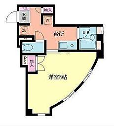 JR山形新幹線 山形駅 バス12分 六日町下車 徒歩3分の賃貸マンション 2階1Kの間取り