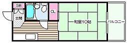 コーポサンプラザ[5階]の間取り
