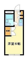 神奈川県川崎市高津区溝口2丁目の賃貸アパートの間取り