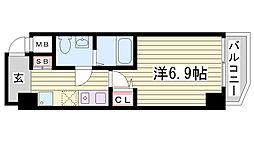 グリーン・ネス神戸駅前[801号室]の間取り