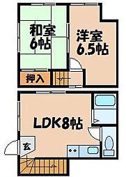 [タウンハウス] 広島県広島市安芸区船越3丁目 の賃貸【/】の間取り