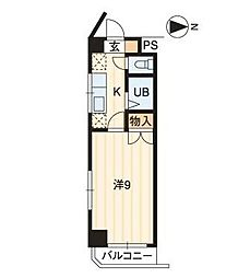グリーンライフ倉敷[2階]の間取り