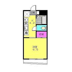 マザール平和台[2階]の間取り