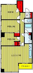 JR山手線 大塚駅 徒歩9分の賃貸マンション 4階3LDKの間取り