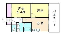 ハイツヒルトンパート3[603号室]の間取り