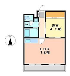 愛知県名古屋市中区千代田3丁目の賃貸マンションの間取り