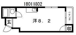 ライズワン阿倍野2[3階]の間取り