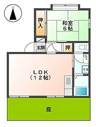 愛知県名古屋市北区丸新町の賃貸アパートの間取り