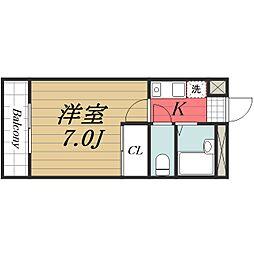 千葉県富里市七栄の賃貸マンションの間取り