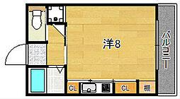大阪府茨木市春日1丁目の賃貸マンションの間取り