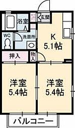 フレグランス高須[2階]の間取り