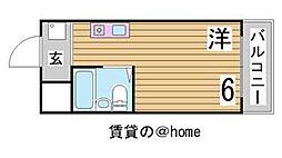 兵庫県神戸市中央区雲井通4丁目の賃貸マンションの間取り