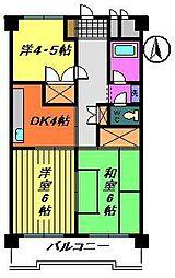 サンハイツ石橋2号[2階]の間取り