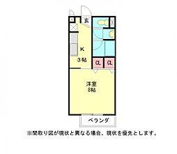愛知県江南市高屋町清水の賃貸アパートの間取り