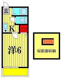 井上アパート[2階]の間取り