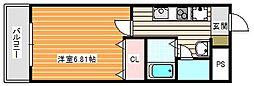 ルミエール御崎[402号室]の間取り