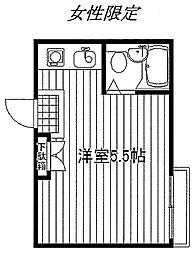 東京都新宿区榎町の賃貸アパートの間取り