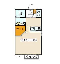 神奈川県横浜市金沢区西柴2丁目の賃貸アパートの間取り