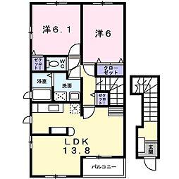 エッフェ プリーマ[2階]の間取り