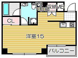 大阪府高槻市紺屋町の賃貸マンションの間取り