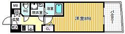 アドバンス西梅田[11階]の間取り