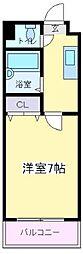 ビブレアビコ[4階]の間取り