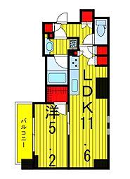 ザ・パークハビオ浅草駒形[6階]の間取り