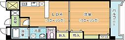福岡県北九州市戸畑区境川2の賃貸マンションの間取り