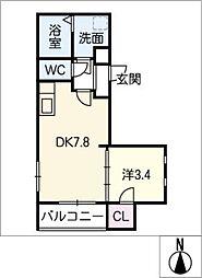 仮)MOVE六番町 EAST[1階]の間取り