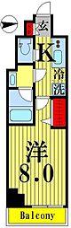 ティモーネグランデ錦糸町 3階1Kの間取り
