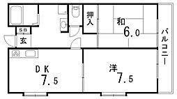 パース湊川[1階]の間取り