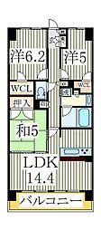 クレストフォルム柏サウスウイング101号室[1階]の間取り