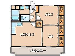 カルム宮[3階]の間取り