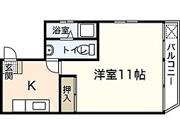 華雅ビル[4階]の間取り