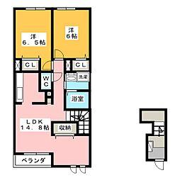 ファミーユ 大菅II[2階]の間取り