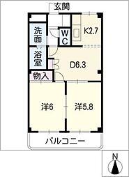 SAFETYレジデンス T.1[2階]の間取り