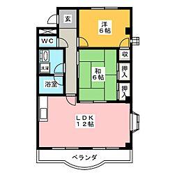 グランチェスタ43[1階]の間取り