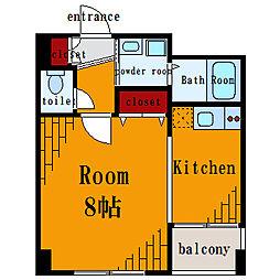 エストソレイユ[2階]の間取り