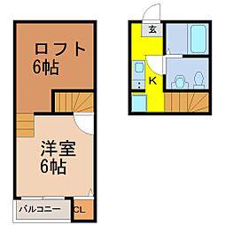 グランコンフォール米野IV (グランコンフォールコメノフォー[2階]の間取り