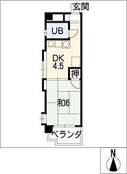 フジマンション CITY KOZAWA[3階]の間取り