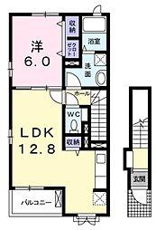東京都小金井市関野町2丁目の賃貸アパートの間取り
