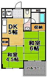 阪急西九条マンション[5階]の間取り